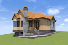 3D house render in Armenia Stock Photos
