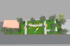 Mini Park 3D Royalty Free Stock Images