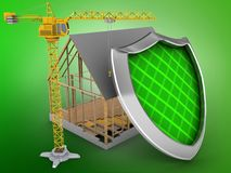 3d house frame Stock Images