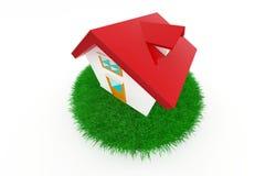 3d house on green grass. Stock Photos