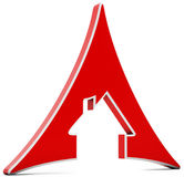3d house icon triangle Royalty Free Stock Photography
