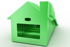 3d house icons Stock Images
