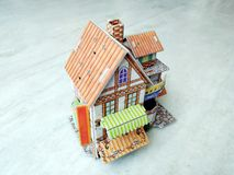 3d house  modern on white background royalty free stock image