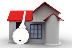 3d House Key Royalty Free Stock Images