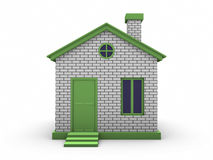 3d house model. Isolated on Background Royalty Free Stock Photos