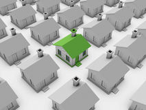 3d house model. Isolated on Background Stock Image