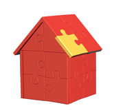 3d house with of parts of a puzzle Royalty Free Stock Images