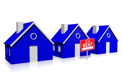 3D house for rent... Stock Photography