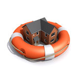 3d House rescue Stock Photography