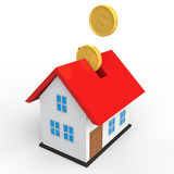 3d house savings concept. 3d render of house savings concept Royalty Free Stock Image