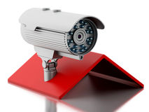 3d House with security CCTV camera. Stock Images