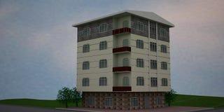 3d House. Simulation public illustration Royalty Free Stock Image