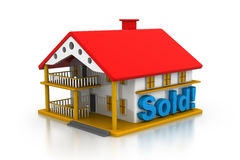 3d house sold Stock Photo