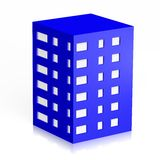 3D house symbol... 3D, computer generated house/ block of flats symbol on white background Royalty Free Stock Photos