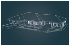 3D  of house Stock Photos