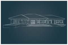 3D  of house Royalty Free Stock Photo