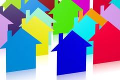 3D houses... Stock Photo