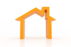 3d houses with growing up graph. Real estate concept Royalty Free Stock Image