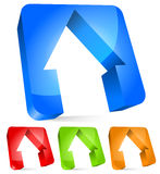 3d houses modern icon, real estate home concepts Stock Images