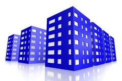 3D houses symbol... Royalty Free Stock Photos