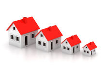 3d houses Royalty Free Stock Image