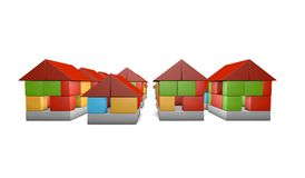 3d housing concept. Real estate business concept. Stock Photo