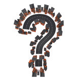 3d Housing estate in shape of question mark Royalty Free Stock Photo