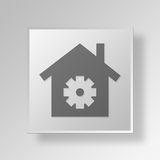 3D Housing settings Button Icon Concept Stock Photography