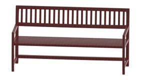 3d houten bank stock illustratie