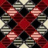 3D Houthakker Tartan Seamless Pattern Stock Afbeeldingen