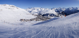 d'Huez d'Alpe Images libres de droits