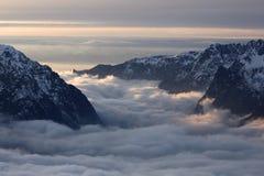 d'Huez de Alpe, centro turístico superior en las montan@as francesas Fotos de archivo libres de regalías