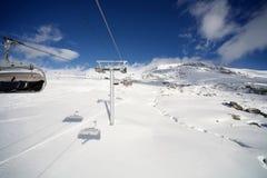 d'Huez de Alpe, centro turístico superior en las montan@as francesas Fotografía de archivo libre de regalías