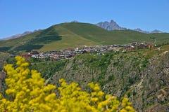 d'Huez de Alpe de la estación Fotos de archivo