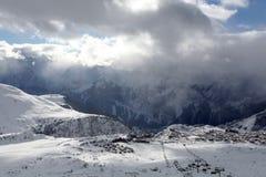 d'Huez de Alpe, recurso superior em alpes franceses Foto de Stock Royalty Free