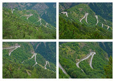 d'Huez di Alpe - curve della forcella Fotografia Stock