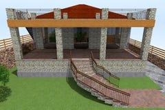 3D huis Stock Fotografie