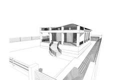 3D huis Royalty-vrije Stock Foto's