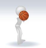 3d human basketball player Stock Photography