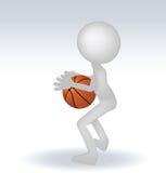 3d human basketball player Stock Photos
