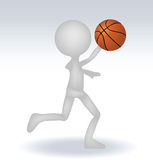 3d human basketball player Royalty Free Stock Images