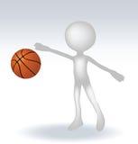 3d human basketball player Royalty Free Stock Photography