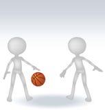 3d human basketball player Stock Images