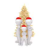 3D human figures in Christmas theme Royalty Free Stock Photos