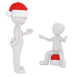 3D human figures in Christmas theme Royalty Free Stock Photo