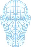3d human head. As technology futuristic symbol Royalty Free Stock Photos