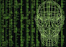 3d human head. As technology futuristic symbol Royalty Free Stock Image