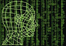3d human head. As technology futuristic symbol Stock Image