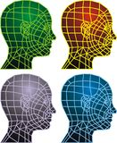 3d human head. As technology futuristic symbol Stock Photography