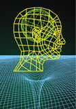 3d human head. As technology futuristic symbol Royalty Free Stock Photography